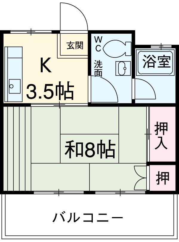 第一金沢ビル 302号室の間取り