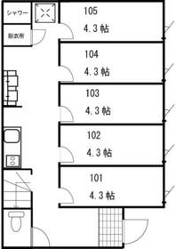 志村三丁目シェアハウス 205号室の間取り