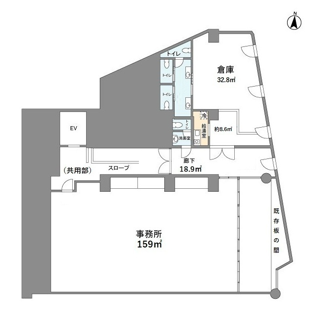 中田ビル・302号室の間取り