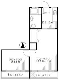 第1都マンション・305号室の間取り