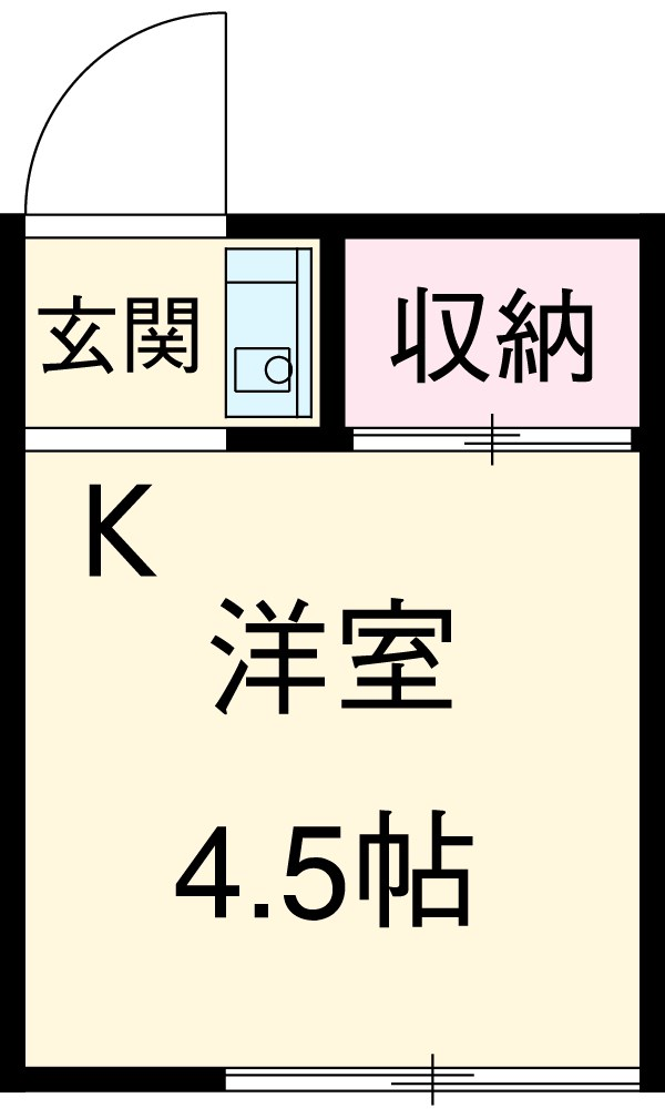 須田荘・3号室の間取り