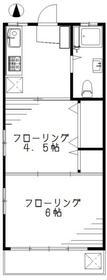 第1都マンション・401号室の間取り