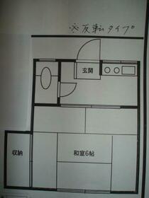 吉伸荘・101号室の間取り