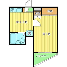 山興弥生町マンション・102号室の間取り