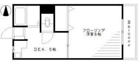 川谷マンション・202号室の間取り