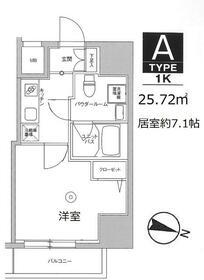 スカイコート板橋本町II・701号室の間取り