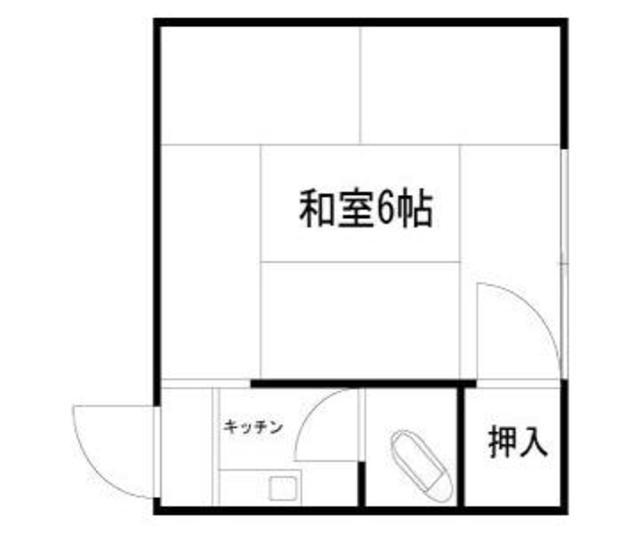 高円寺フラッツB棟 3号室の間取り