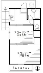 竹川コーポ・2号室の間取り