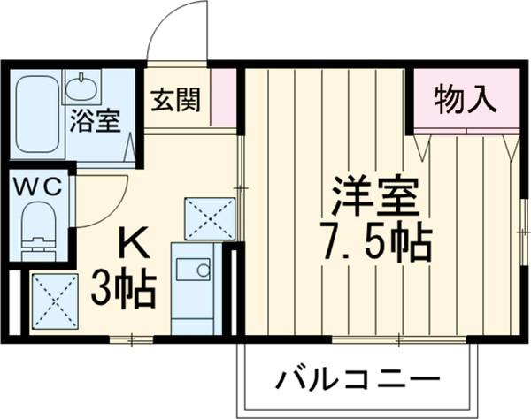 オーベルジュ・和泉・201号室の間取り