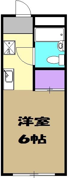 コーポミヨシ・D号室の間取り