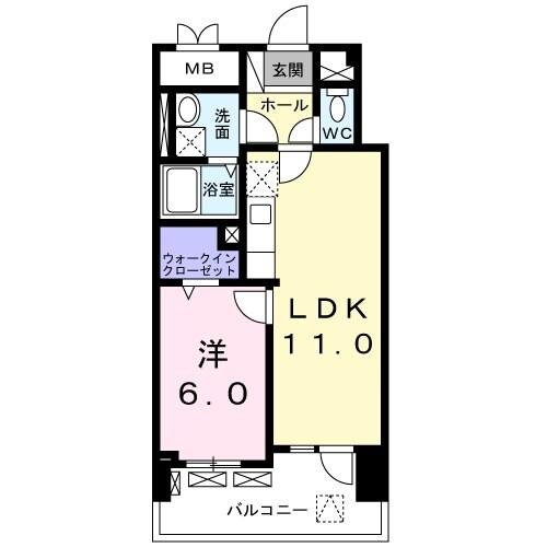メゾンド・ボナー扇 弐番館・01050号室の間取り