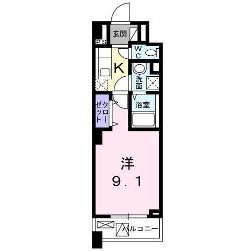 メゾンド・ボナー扇 弐番館・02020号室の間取り