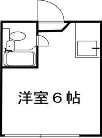 メニエル87 103号室の間取り