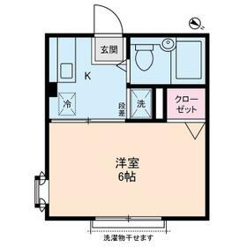 カディカワセⅡ・0105号室の間取り