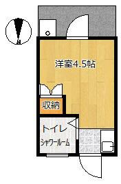田中アパート・4号室の間取り