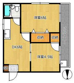 マンション遠藤(遠藤マンション)・202号室の間取り