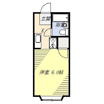 シティハイムアサヒⅡ・101号室の間取り