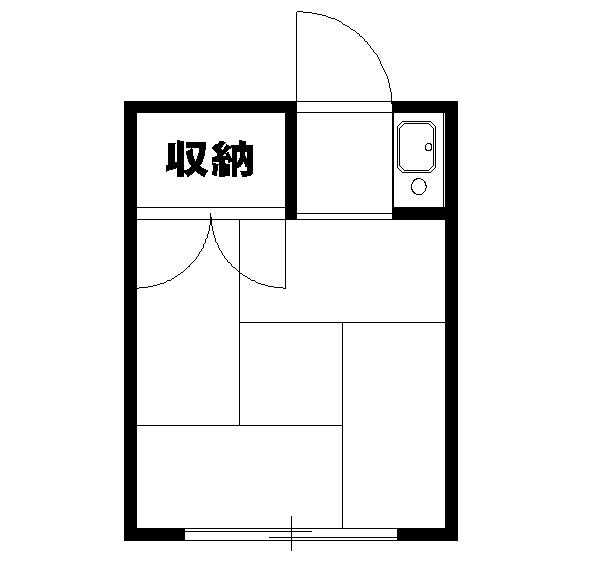 宮崎荘・8号室の間取り