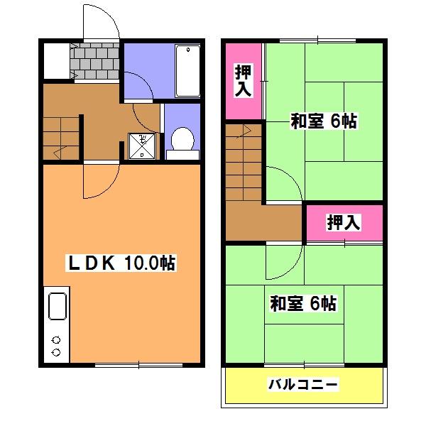 ドミール・SAKAGAMI・5号室の間取り