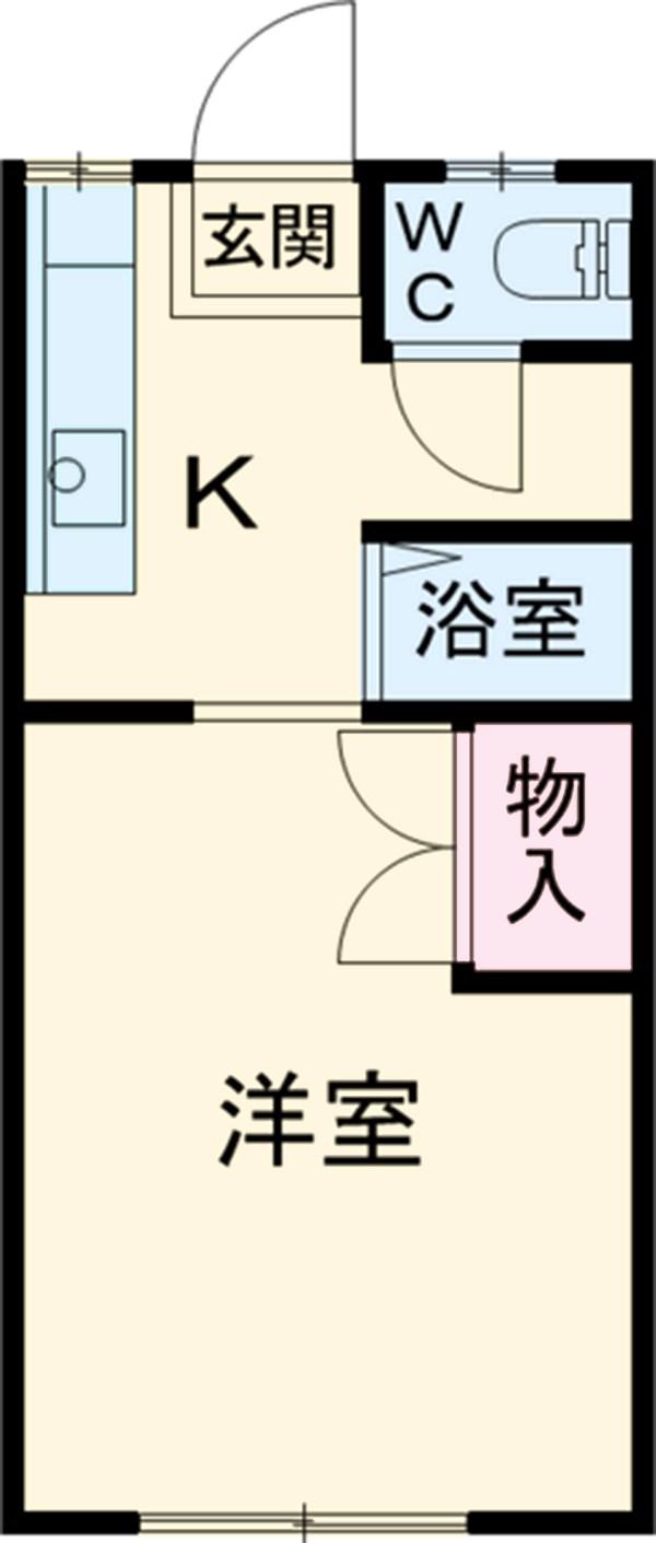 吉沢ハイツA棟 105号室の間取り
