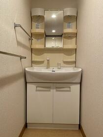 Pua-Honu 2F号室の洗面所