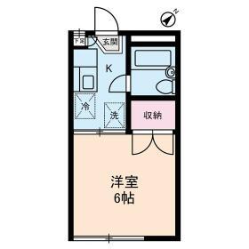 ボヌールYAMABIKO 0102号室の間取り