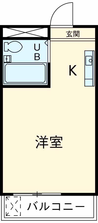 メゾン・ド・荻窪 103号室の間取り