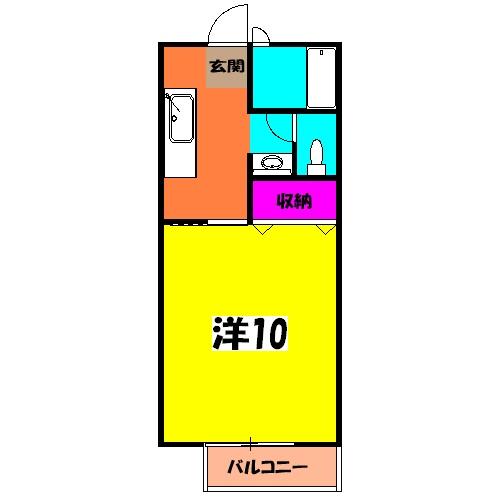 メゾン平松ラ・フォンテーヌⅠ 102号室の間取り