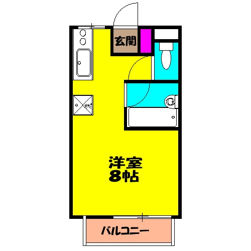 JUNコーポ泉ヶ丘・103号室の間取り