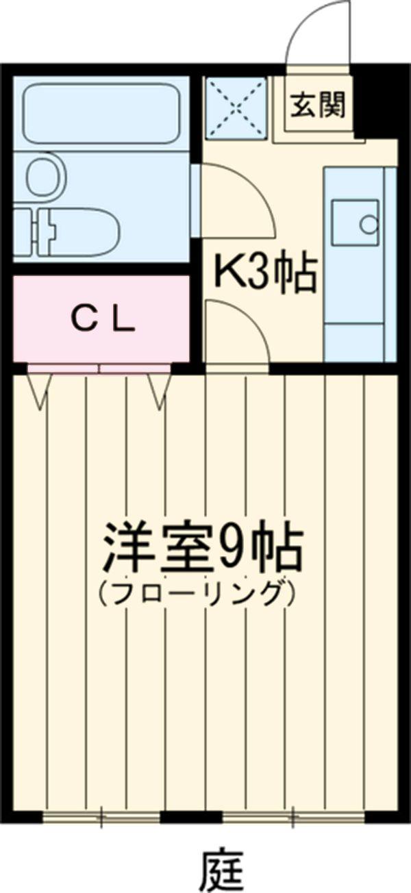 グリムハイツ塙田 105号室間取り図