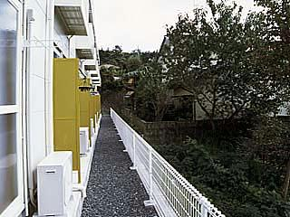 レオパレスNoah 104号室のバルコニー