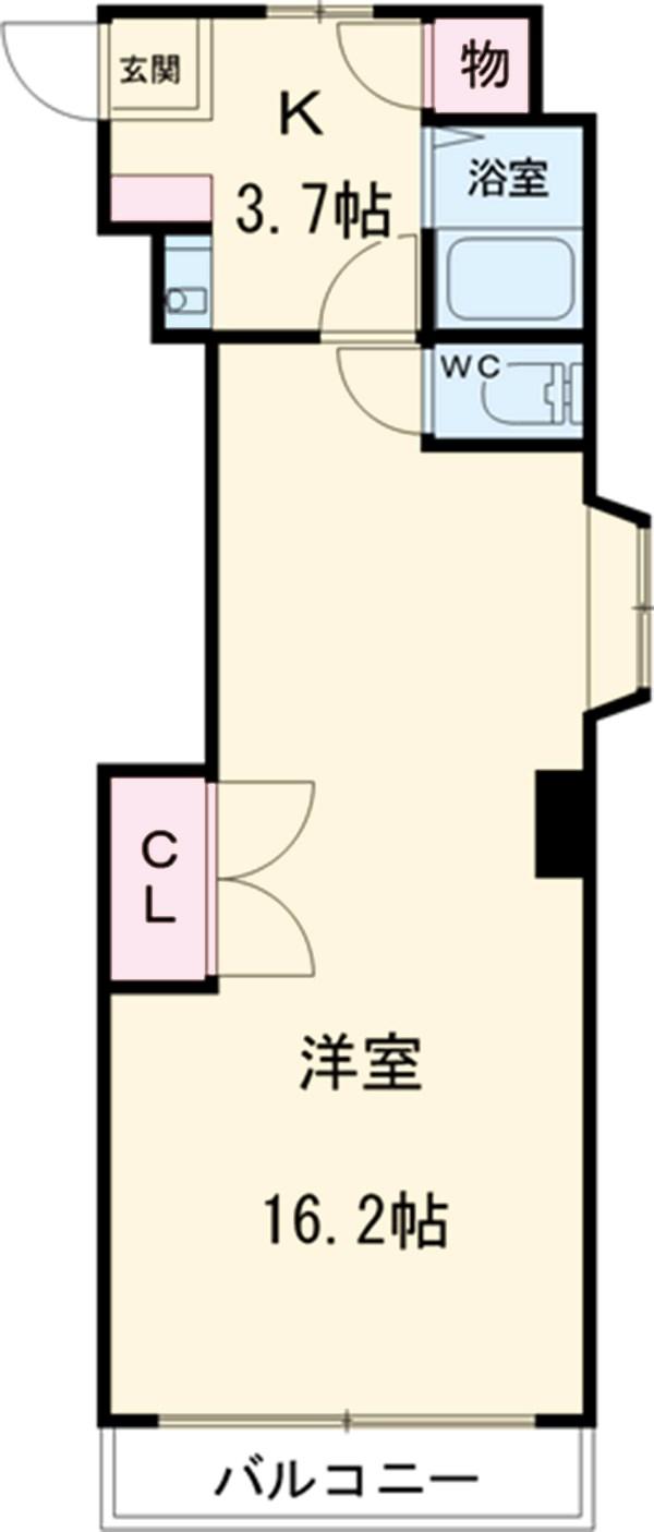 稲葉ビル・3-D号室の間取り