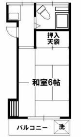 アビタシオン武蔵野・202号室の間取り