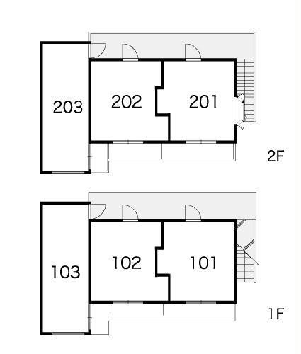 レオパレス西川田第1 203号室の設備