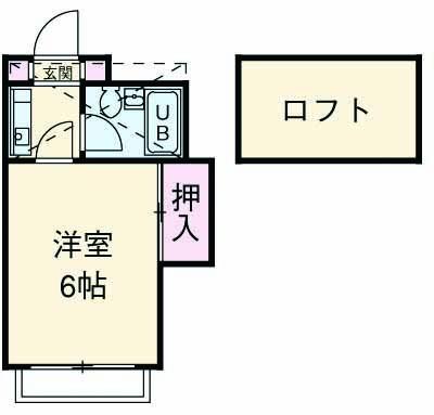 菅ハイツ・205号室の間取り