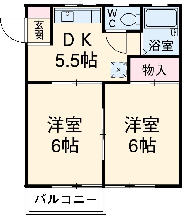 ドリームハイツ澤 5号棟 503号室の間取り