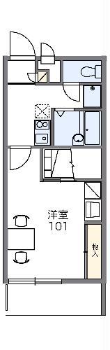 レオパレスパレスマンション Ⅱ・204号室の間取り