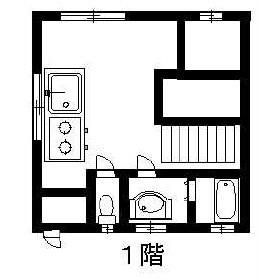 豊ハイツB-5・B-2号室の間取り