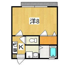 サンライズ長塚・2-B号室の間取り