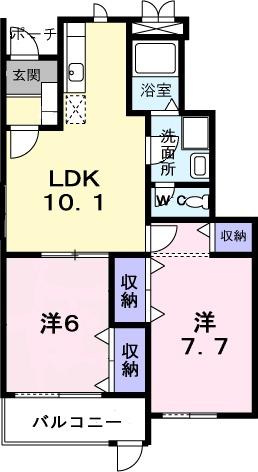 クレストアヅマ1・01030号室の間取り