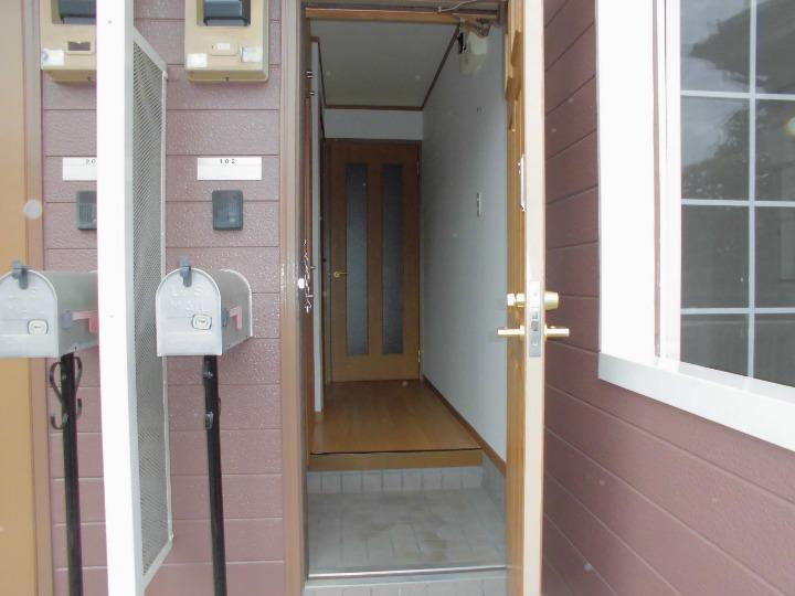 メゾンドエスパス 01020号室のバルコニー