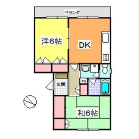 ケイ・エス・マハロI・104号室の間取り