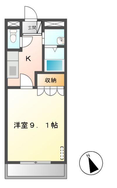 ヴィンテージ 302号室間取り図