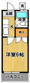 小野崎ハイツ・210号室の間取り