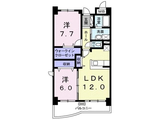 木村ロイヤルマンション4 04040号室の間取り