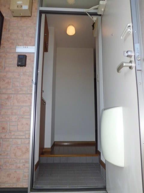 ボヌール・ポエームA 01030号室の玄関