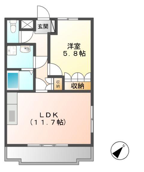 Tida Square NAMIKI 201号室の間取り