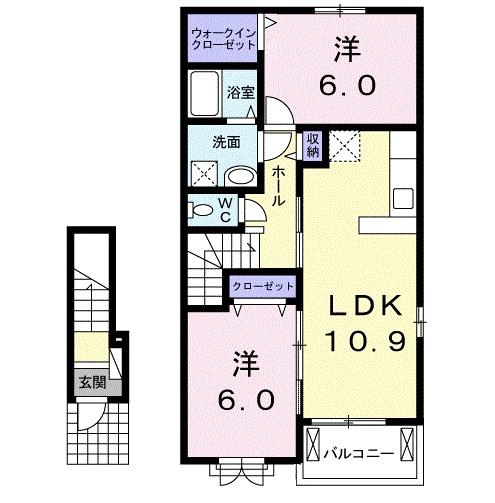 マ・シェリⅠ 02030号室の間取り