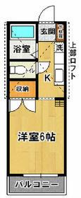 シマダハイツA・107号室の間取り