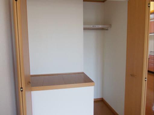 ソレアードホソヤD 02030号室の収納